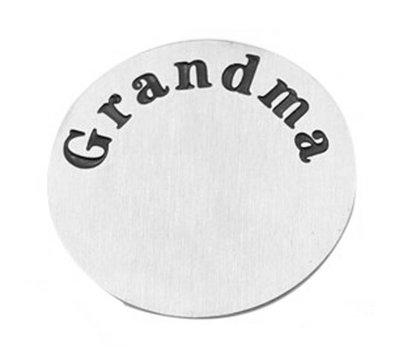 Locket Disks Floating locket disk Grandma zilver XL