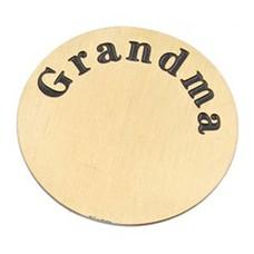 Floating locket  discs Memory locket disk Grandma goud XL