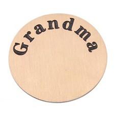 Floating locket  discs Memory locket disk Grandma rose goud XL