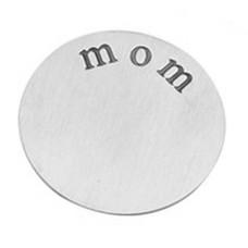 Floating locket  discs Memory locket disk mom zilver XL