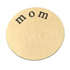 Floating locket  discs Memory locket disk mom goud XL