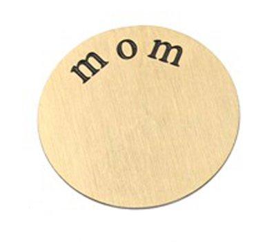 Floating locket  discs Memory locket disk mom goud XL