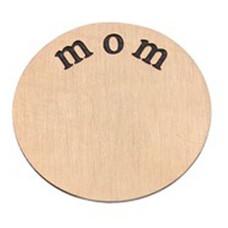Floating locket  discs Memory locket disk mom rose goud XL