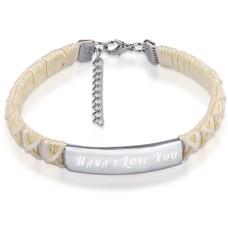 Armband met Naam Armband graveren dames wit