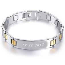 Armband met Naam Stalen armband graveren Skyline