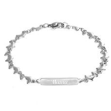Armband met Naam Dolfijn armband graveren zilver