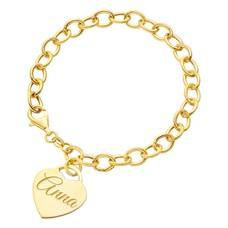 Armband met Naam Bedelarmband met Naambedel goud