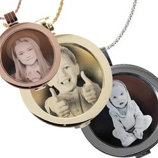 Muntketting met Graveer munt, In Zilver, Rosé Goud en Goud