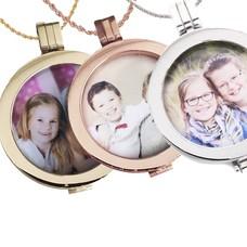 Muntketting kleuren Foto munt, In Zilver, Rosé Goud en Goud