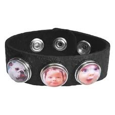 Foto Armbanden Clicks Foto armband zwart met 3 foto's