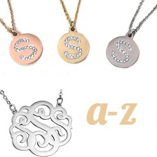 Letter Kettingen, Verkrijgbaar van A t/m Z in zilver (rosé) Goud