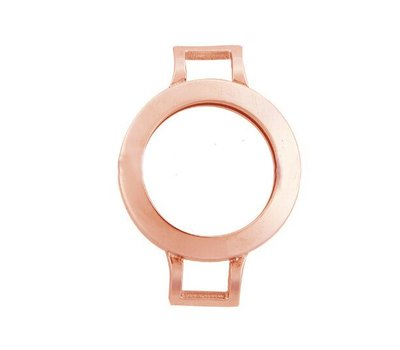 Armband voor munten Munthouder smal voor losse armband rose goud van roestvrij staal