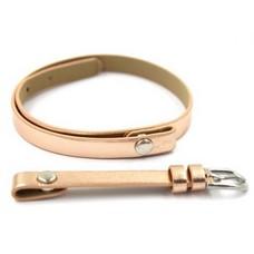 Armband voor munten Losse armband voor munthouder smal leer dubbel goud