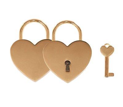 Slot Graveren Liefdesslot hart goud