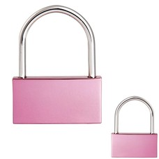 Slot Graveren Liefdesslot rechthoek roze