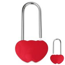 Slot Graveren Liefdesslot dubbel hart rood
