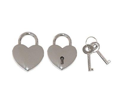 Slot Graveren Liefdesslot hart zilver mini