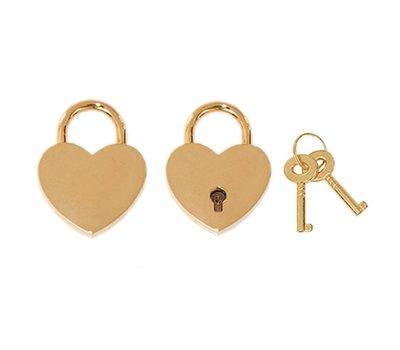 Slot Graveren Liefdesslot hart goud mini