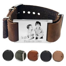 Armband met Foto Soul Graveer armband leer breed