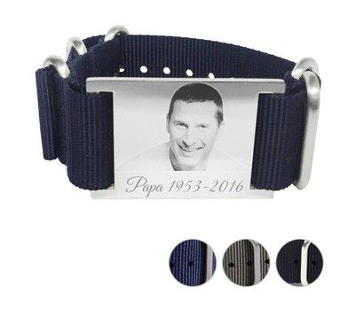Armband met foto graveren Armband met foto Graveren Soul breed Nylon