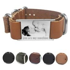 Armband met Foto Soul Graveer armband leer smal