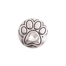 Clicks en Chunks | Click hondenpootje crystal zilver