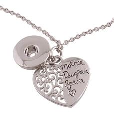 Clicks Sieraden Clicks hanger met hartje mother daughter forever inclusief ketting