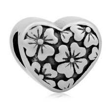 Bedels Kralen Flower klein bedel zilver