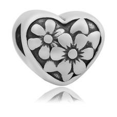 Bedels en Kralen Bedel flower zilver