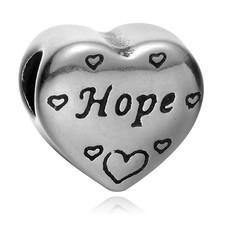Bedels Kralen Hope bedel zilver