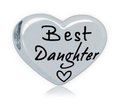 Bedels en Kralen Bedel best daughter zilver voor bedelarmbanden