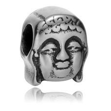 Bedels en Kralen Bedel boeddha zilver