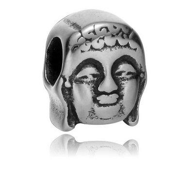 Bedels en Kralen Bedel boeddha zilver voor bedelarmbanden