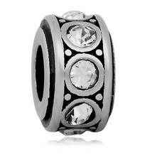 Bedels en Kralen Bedel crystal wit zilver