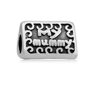 Bedels Kralen My mummy bedel zilver -
