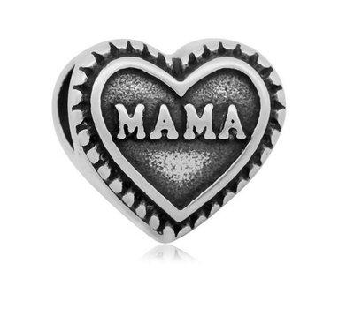 Bedels en Kralen Bedel mama zilver voor bedelarmbanden