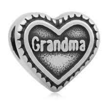 Bedels Kralen Grandma hartje bedel zilver