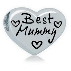 Bedels en Kralen Bedel beste moeder zilver