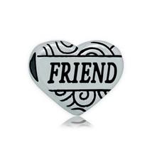 Bedels en Kralen Bedel hart friend zilver