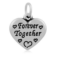 Hangende Bedels Hangende bedel Forever together hartje zilver