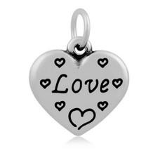 Hangende Bedels Hangende bedel Love hartje zilver