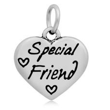 Hangende Bedels Hangende bedel Special friend hartje zilver