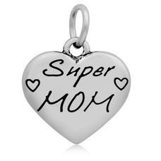Hangende Bedels Hangende bedel super mama zilver