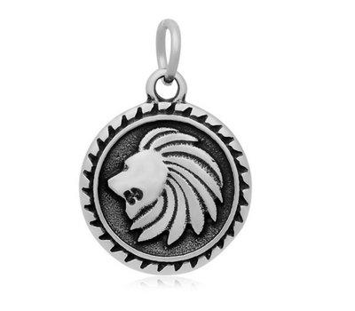 Hangende Bedels Hangende bedel leeuw zilver