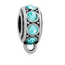 Hangende Bedels Stones bedel blauw zilver met oog