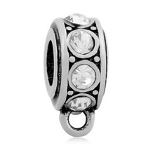 Hangende Bedels Bedel met oog kristal wit zilver