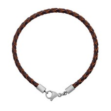 Armband voor Bedels Bedel Armband leer donker bruin