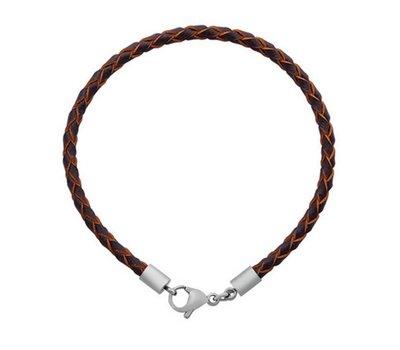 Armband voor Bedels Bedelarmband leer donker bruin