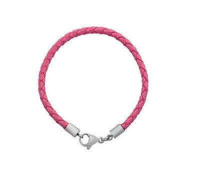 Armband voor Bedels Bedel Armband leer licht roze