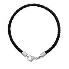 Armband voor Bedels Bedelarmband leer zwart